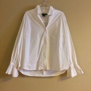 Lauren Ralph Lauren Pleated Cuff Long Sleeve Shirt